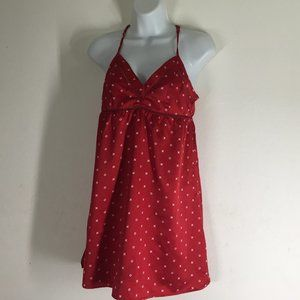 Gilligan O'Malley Chemise Silky Nightgown Red &
